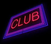 Neon Club sign. — Stock Photo