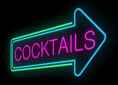 Neon cocktails sign. — Stock Photo