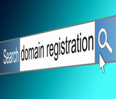 Domain registration concept. — Stock Photo