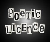Poetic licence concept. — Stock Photo