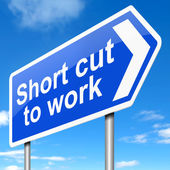 Short cut to work. — Stock Photo