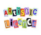 Artistic licence concept. — Stock Photo
