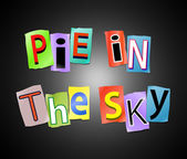 Pie in the sky. — Stockfoto
