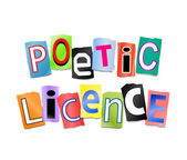 Poetic licence concept. — Stock Photo