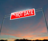 Hot date concept. — Stock Photo