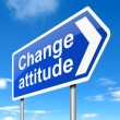 Change attitude concept. — Stock Photo