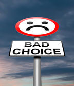 Bad choice concept. — Stock Photo