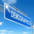 Demographics concept. — Stock Photo