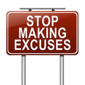 Stop excuses concept. — Stock Photo