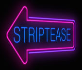 Striptease sign. — Stock Photo
