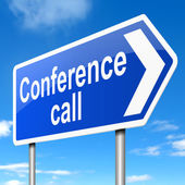 Conference call concept. — Stock Photo