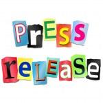 Press release concept. — Stock Photo