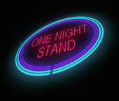 One night stand concept. — Stock Photo