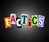 Tactics concept. — Stock Photo