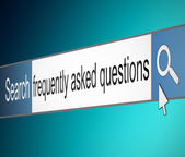 Frequently asked questions. — Stock Photo
