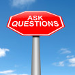 Ask questions concept. — Stock Photo