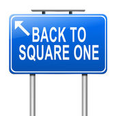 Back to square one. — Stock Photo