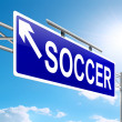 Soccer sign. — Stock Photo