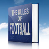 Fußball-lehrbuch. — Stockfoto