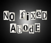 No fixed abode. — Stock Photo