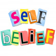 Self belief concept. — Stock Photo