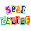 Self belief concept. — Stock Photo #24859647
