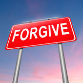 Forgive concept. — Stock Photo