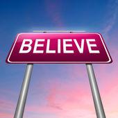 Believe concept. — Stock Photo