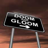 Doom and gloom concept. — Stock Photo
