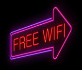 Zdarma wifi koncept. — Stock fotografie