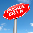 Stock Photo: Engage brain concept.