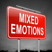Mixed emotions concept. — Stock Photo