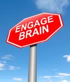 Koncepcja zaangażowania mózgu. — Zdjęcie stockowe