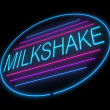 Milkshake sign. — Stock Photo