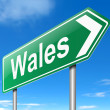 Stock Photo: Wales sign.