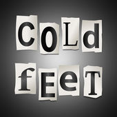 Cold feet concept. — Stock Photo