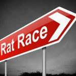 Rat race concept. — Stock Photo