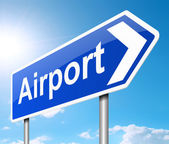 Airport sign. — Stock Photo