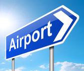 Luchthaven teken. — Stockfoto