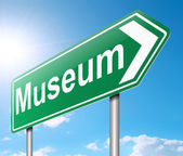 Museum sign. — Stock Photo
