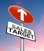 Sales target concept. — Stock Photo