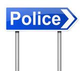 Segno di polizia. — Foto Stock