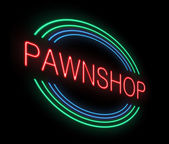 Neon Pawnshop sign. — Stock Photo