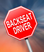 Backseat driver concept. — Stock Photo