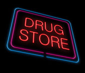 Neon Drugstore sign. — Stock Photo