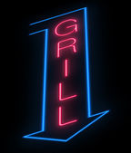 Grill sign. — Stock Photo