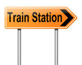Train Station sign. — Stock Photo