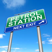 Petrol station sign. — Stock Photo