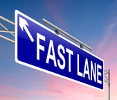 Fast lane concept. — Stock Photo