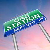 Signe de la station-service. — Photo
